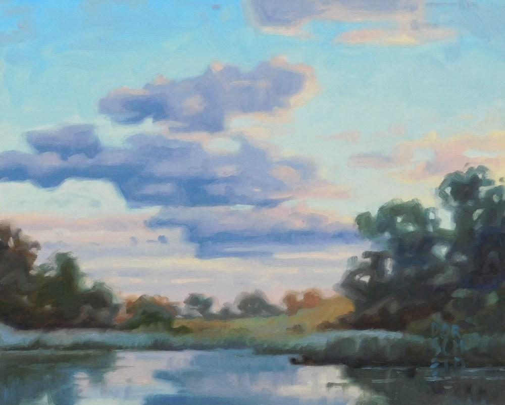"""Morning Reflection"" original fine art by Les Dorscheid"