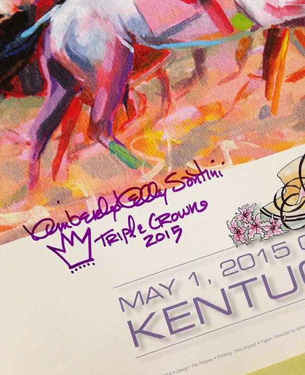 """I Have Kentucky Derby Posters!!"" original fine art by Kimberly Santini"