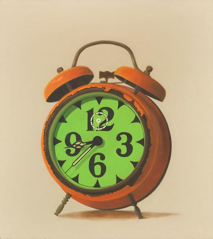 """The Orange Clock"" original fine art by Susan Fern"