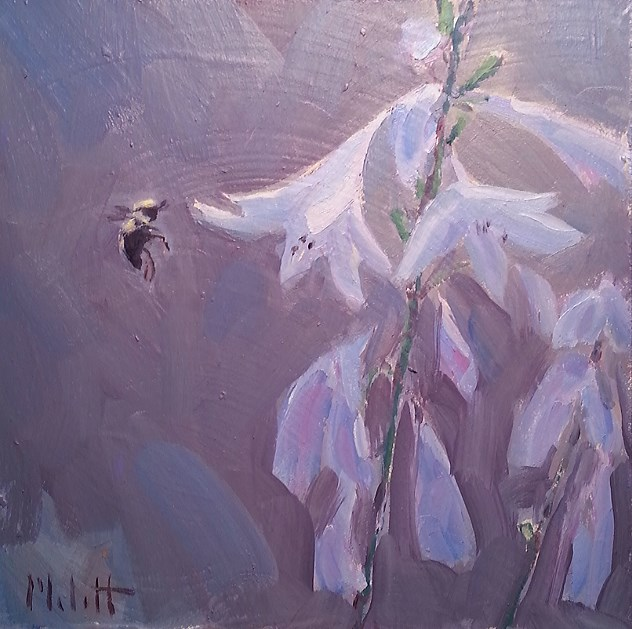 """A Quiet Summer Morning Hostages in Bloom Garden Art"" original fine art by Heidi Malott"