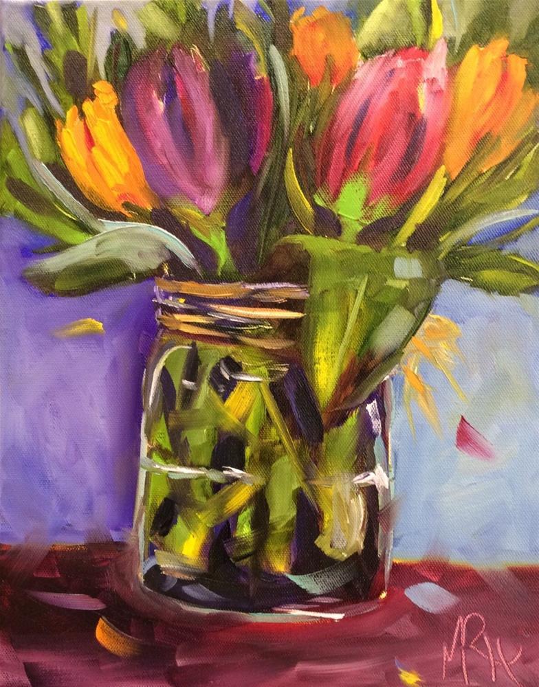 """Tulip Time"" original fine art by Molly Rohrscheib Hathaway"