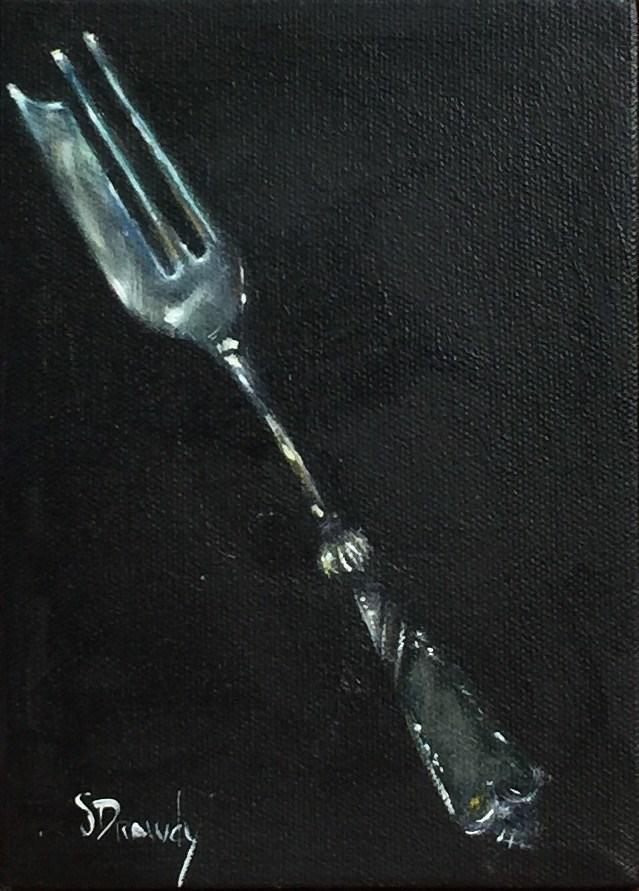 """Oyster Fork"" original fine art by Stephanie Drawdy"