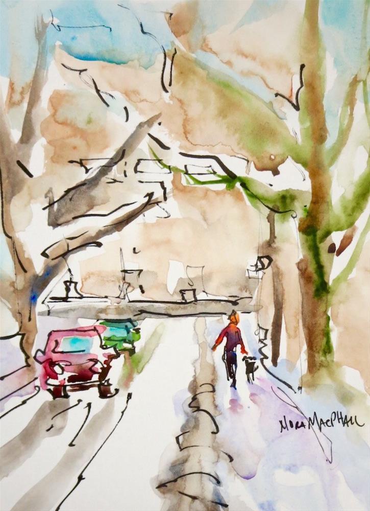 """winter walk"" original fine art by Nora MacPhail"