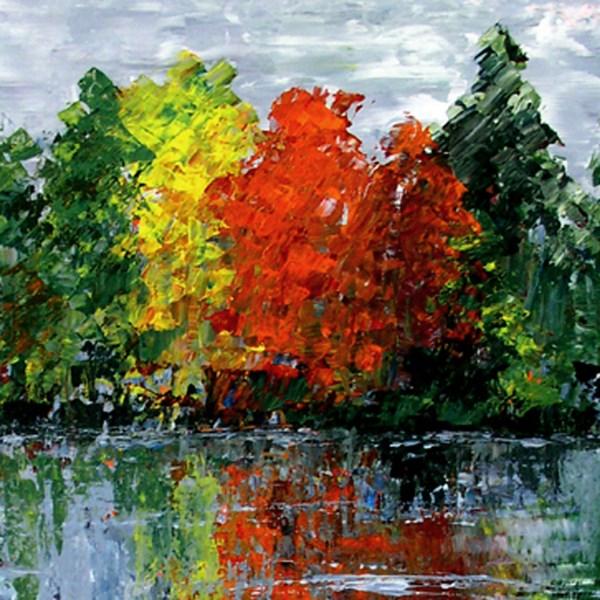 """Gray Day Reflections"" original fine art by Anna Vreman"