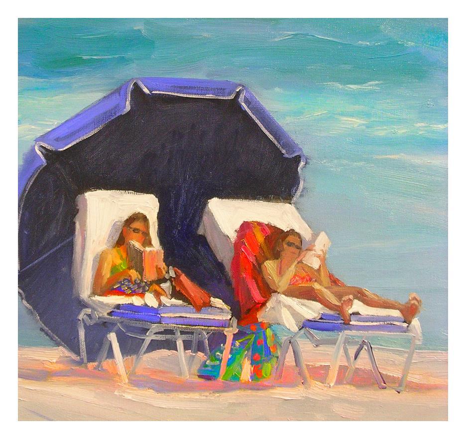 """""""Beach Bums"""" original fine art by Patti Mollica"""