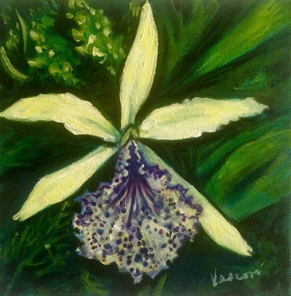 """Orchid 5"" original fine art by Valerie Vescovi"