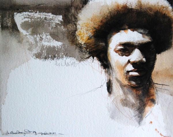"""AFRO 23"" original fine art by Adebanji Alade"