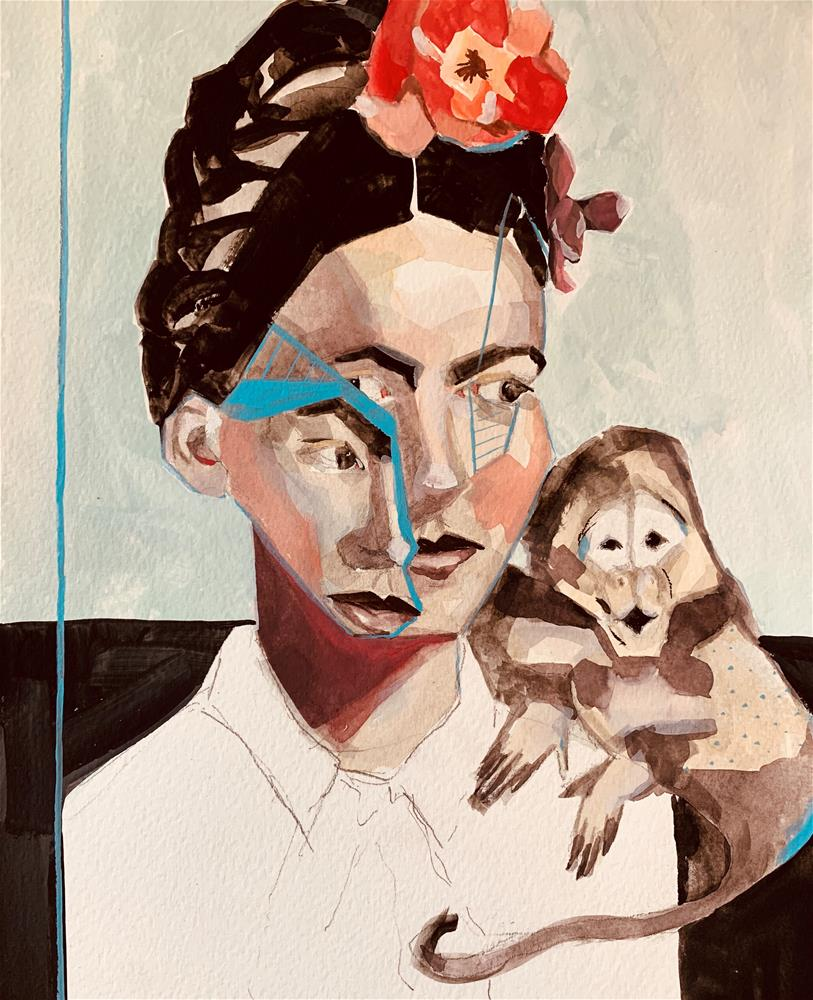 """715 Facets of Frida"" original fine art by Jenny Doh"