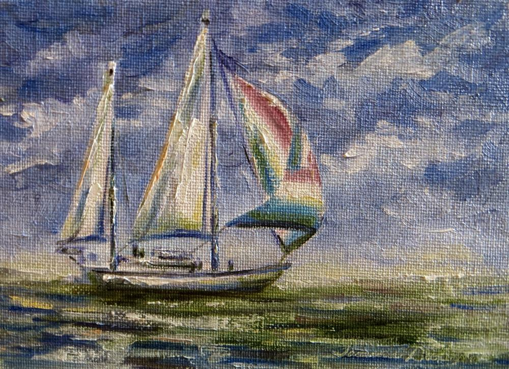 """All Sail and No Anchor"" original fine art by Tammie Dickerson"