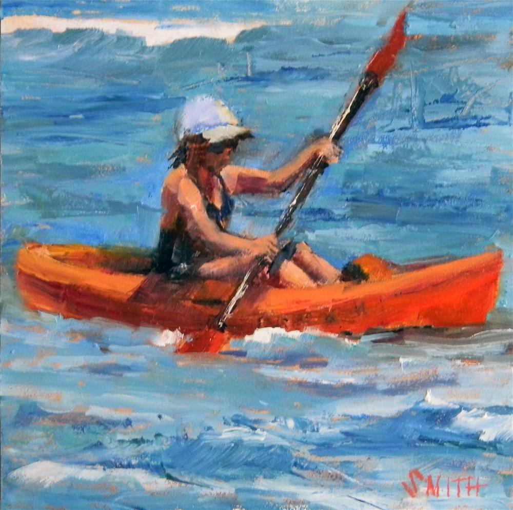 """""""Kayak Kauai"""" original fine art by Barbie Smith"""