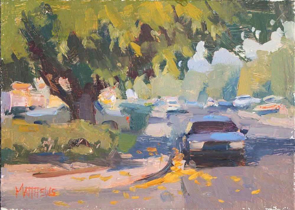 """Parked in the Shade"" original fine art by Kristian Matthews"