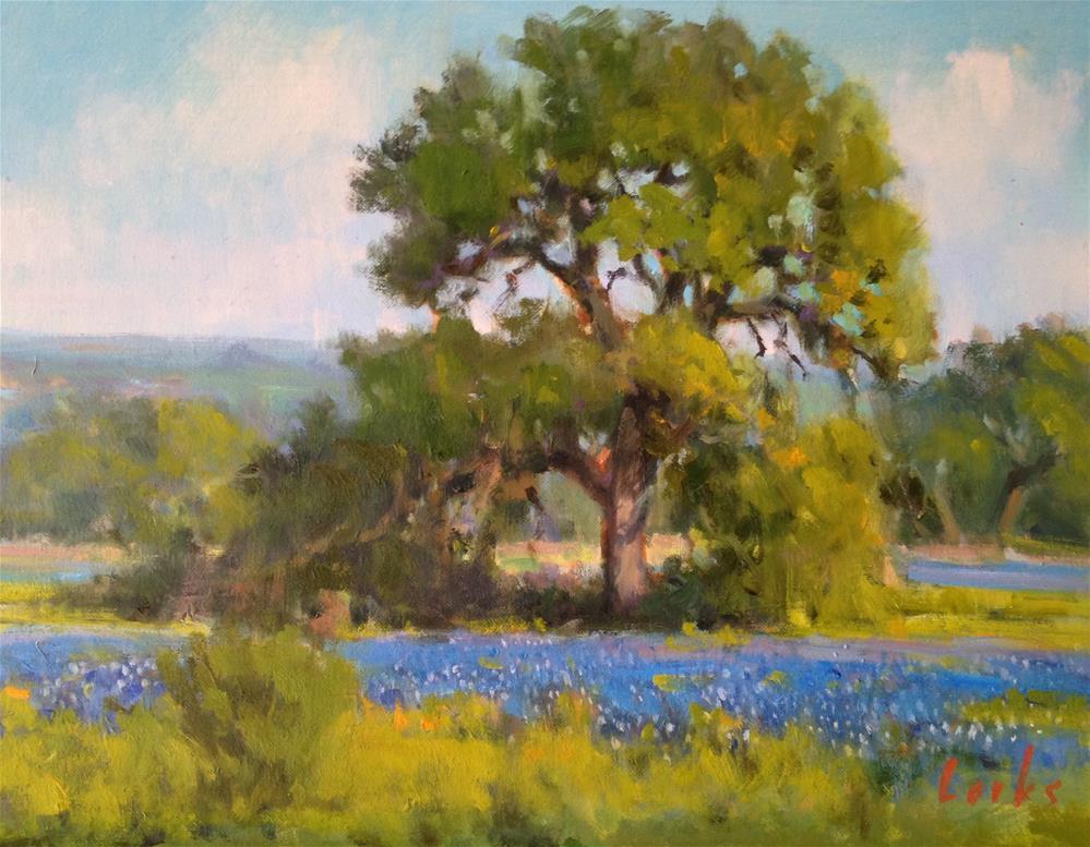 """""""A Tall Oak"""" original fine art by David Forks"""