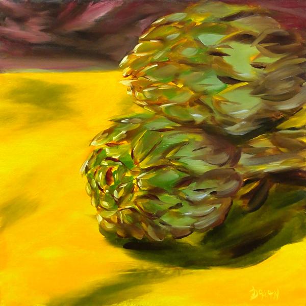 """Artichokes"" original fine art by Dalan Wells"