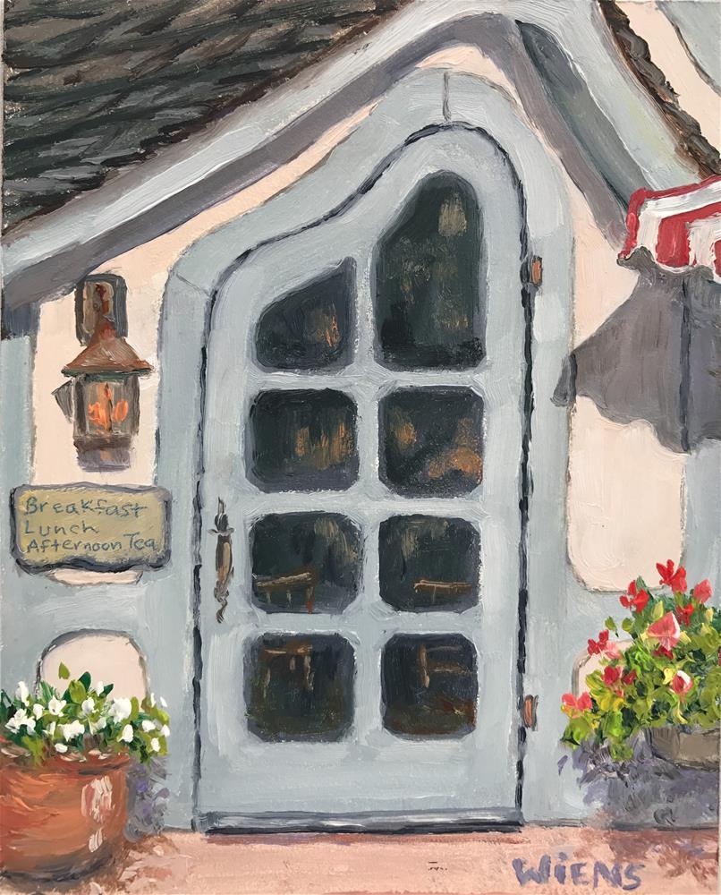 """""""Tuck Box Door"""" original fine art by Laura Wiens"""
