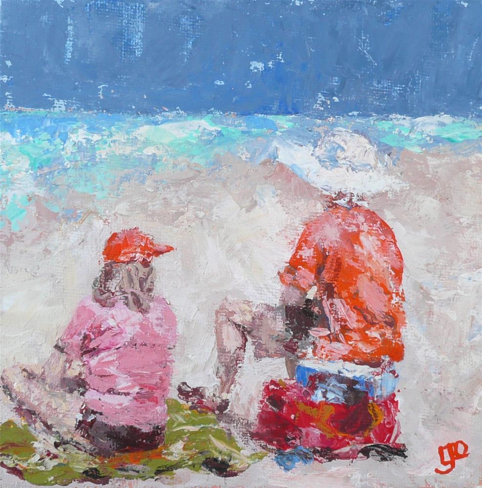 """""""Summer Splash"""" original fine art by Leanne Owen"""