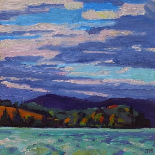 """Croton Point, November"" original fine art by Jessica Miller"
