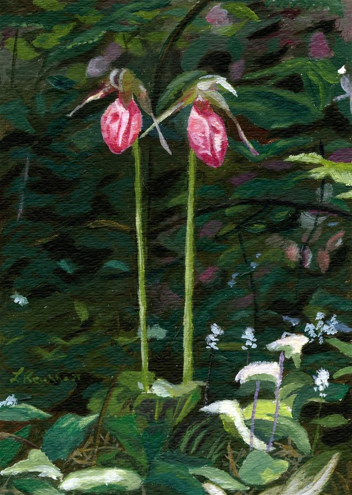"""Lady Slipper"" original fine art by Lynne Reichhart"