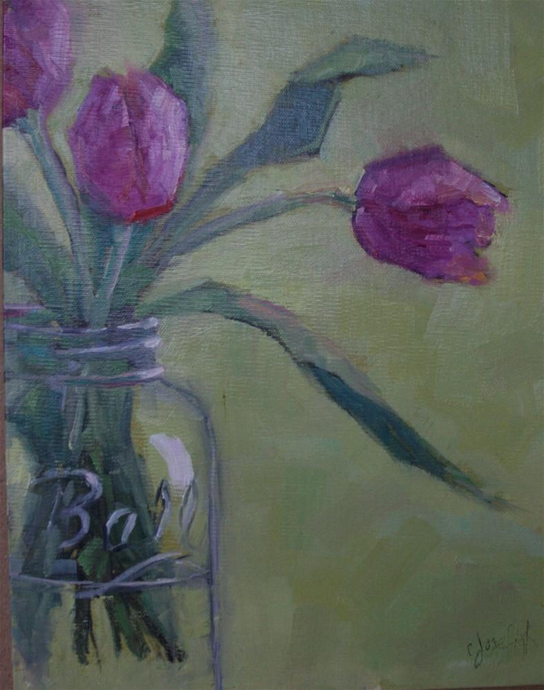 """Pink Tulips"" original fine art by Carol Josefiak"