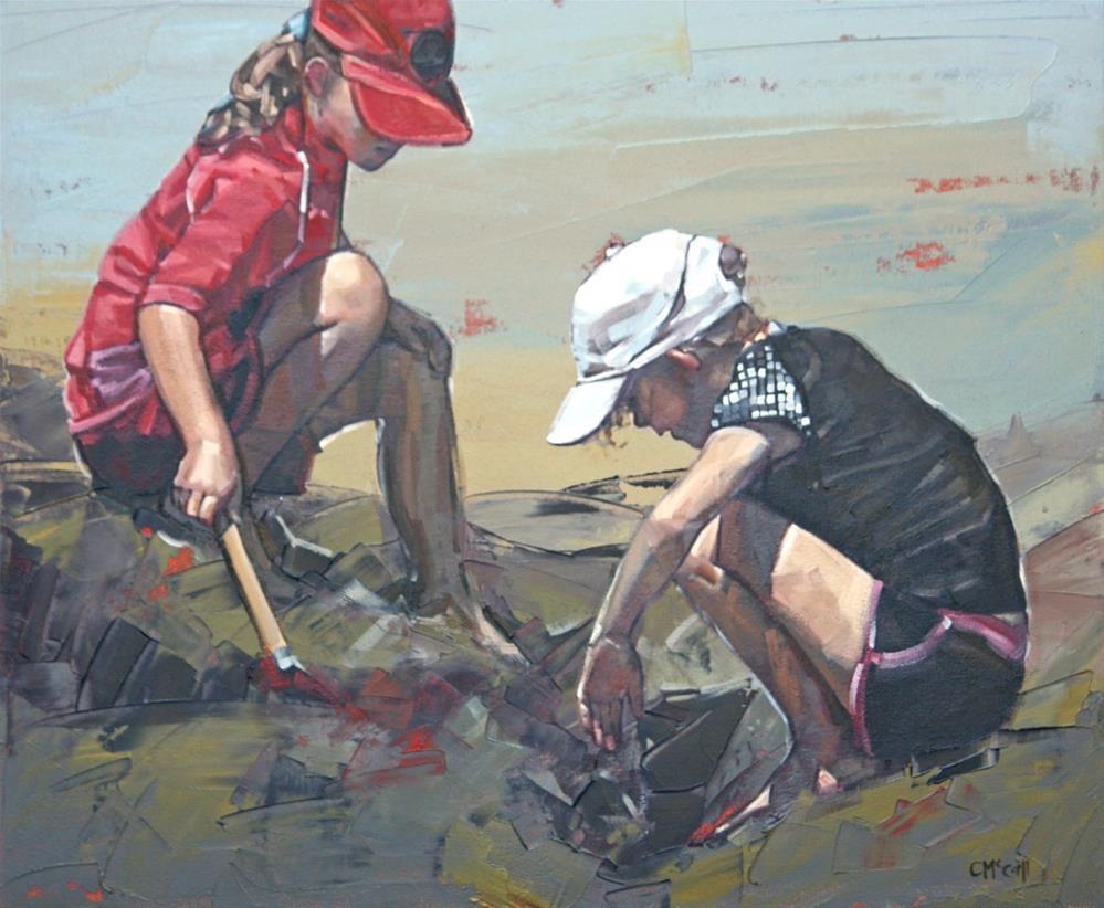 """""""Treasure Hunt III"""" original fine art by Claire McCall"""