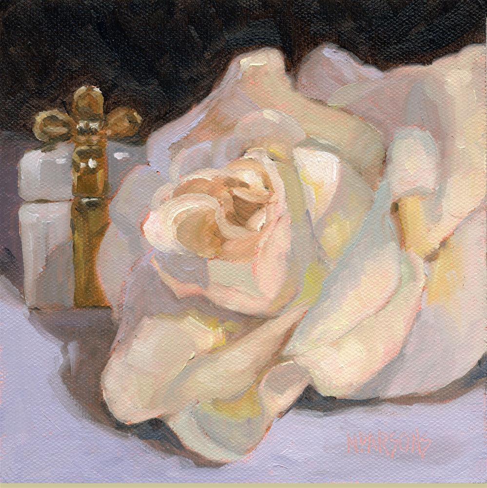 """""""Flower Girl and Ring Bearer"""" original fine art by Nancy Parsons"""
