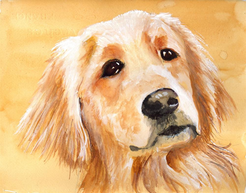 """Golden Retriever Portrait"" original fine art by Bunny Griffeth"