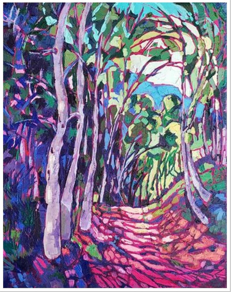 """Trail Walk"" original fine art by Bhavna Misra"