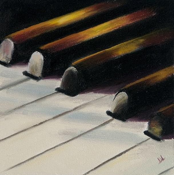 """Keys to Harmony #1211"" original fine art by Dee Lessard"