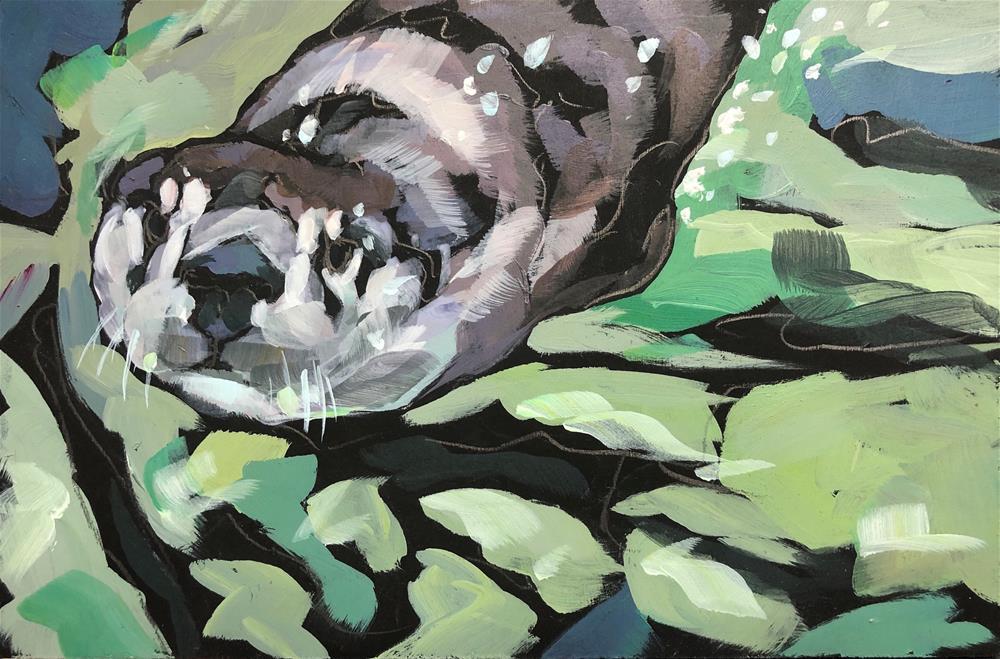 """Whiskers and Bubbles"" original fine art by Kat Corrigan"