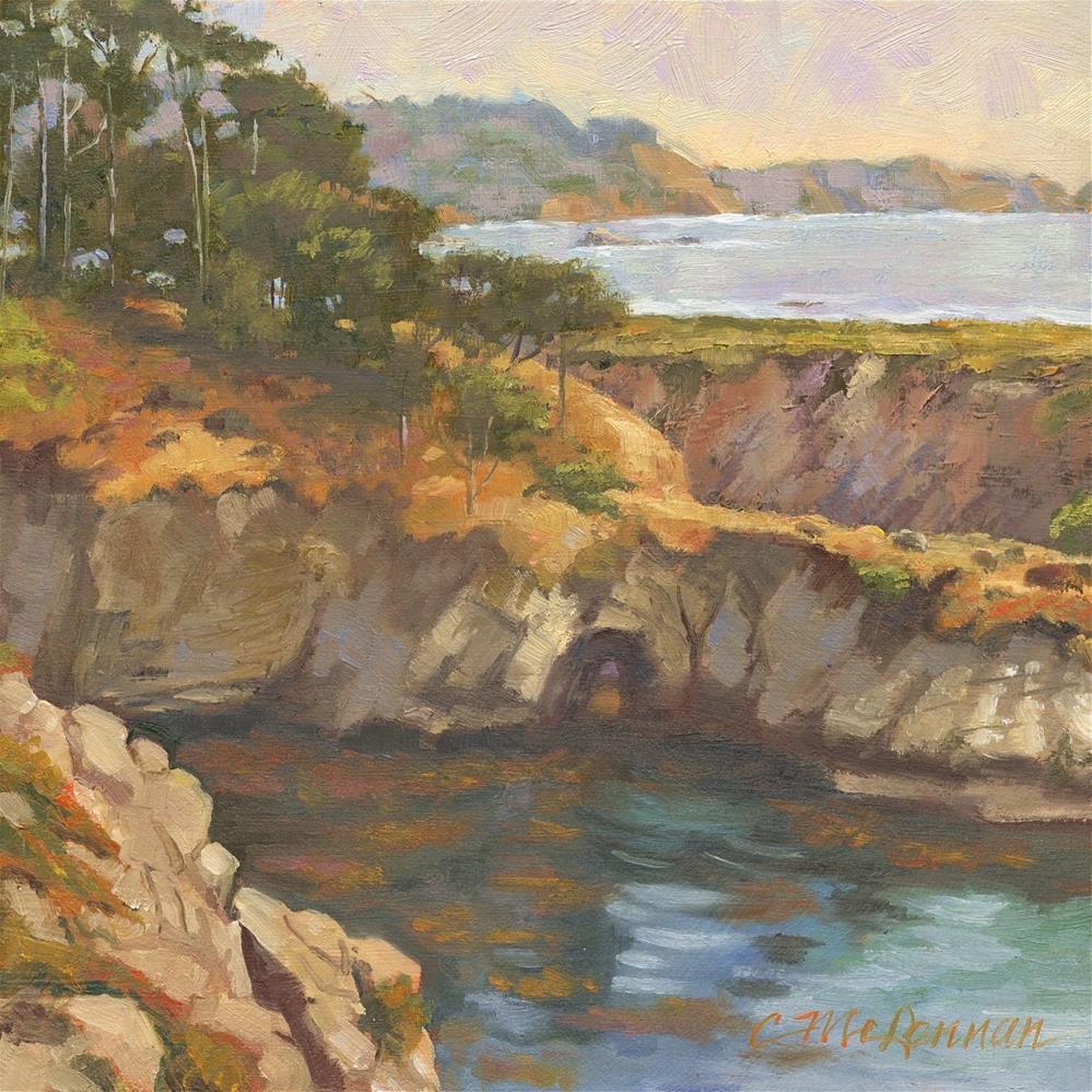 """""""China Cove, Pt. Lobos"""" original fine art by Connie McLennan"""