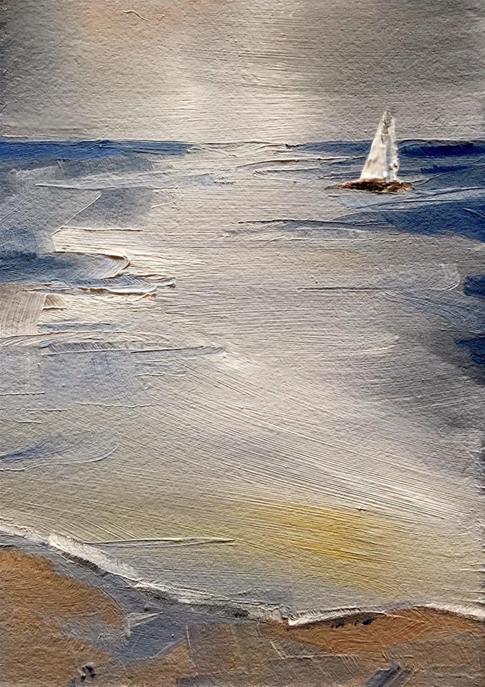 """Little Seascape"" original fine art by Gary Bruton"