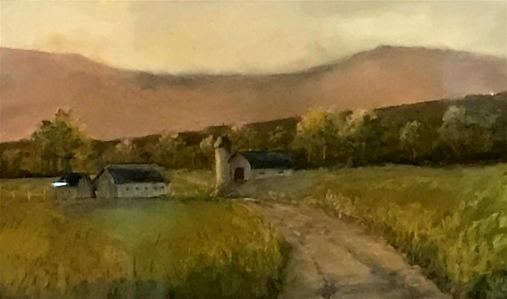 """farm at the foot of the mountain"" original fine art by Betty Argiros"