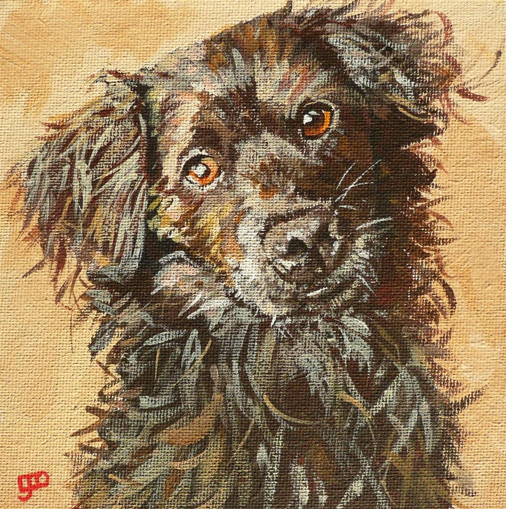 """""""Best Mate"""" original fine art by Leanne Owen"""