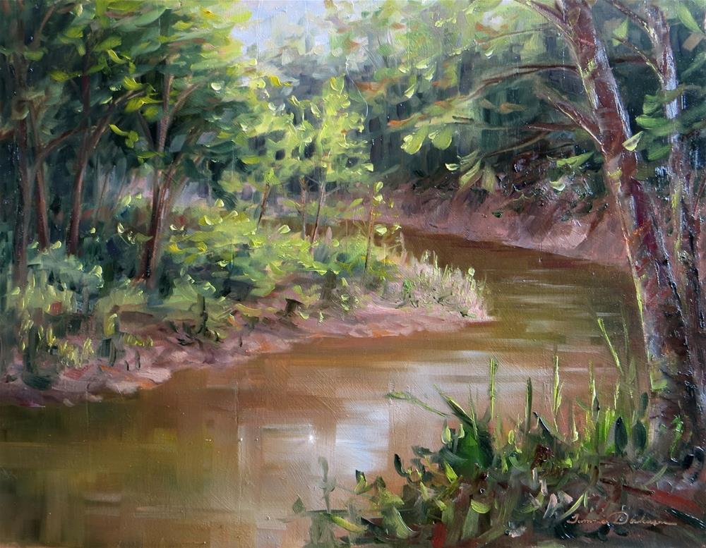 """Winding Wolf Creek"" original fine art by Tammie Dickerson"