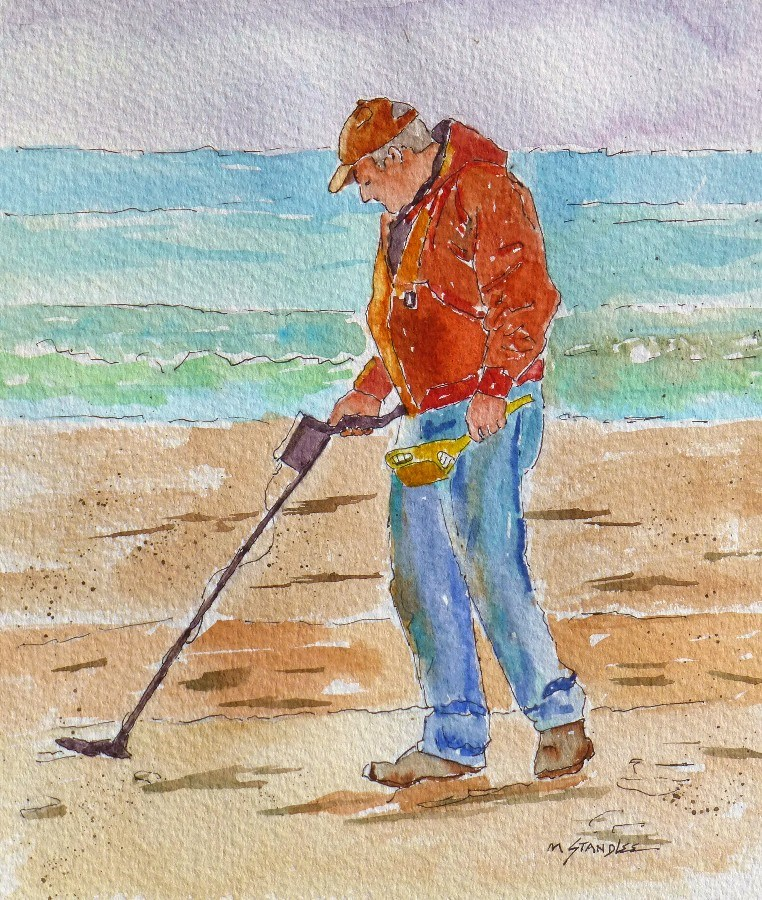 """Beachcombers 13083"" original fine art by Nancy Standlee"
