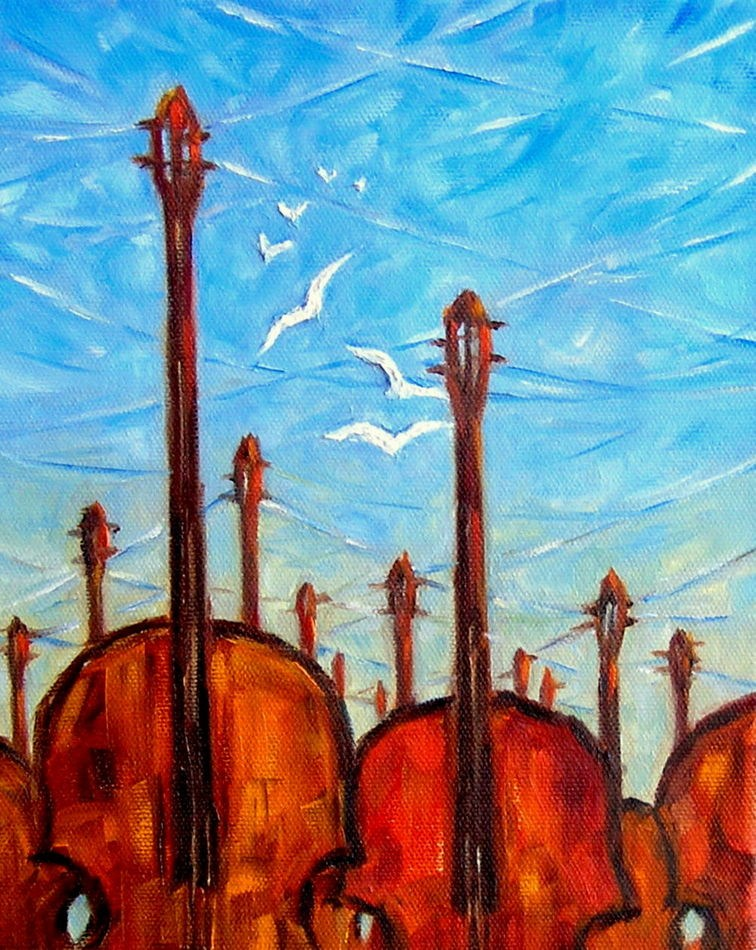"""Music of the Winds"" original fine art by Irina Beskina"