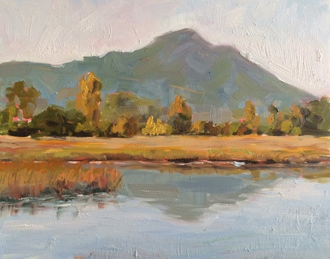 """""""Mount Tamalpais"""" original fine art by Deborah Newman"""