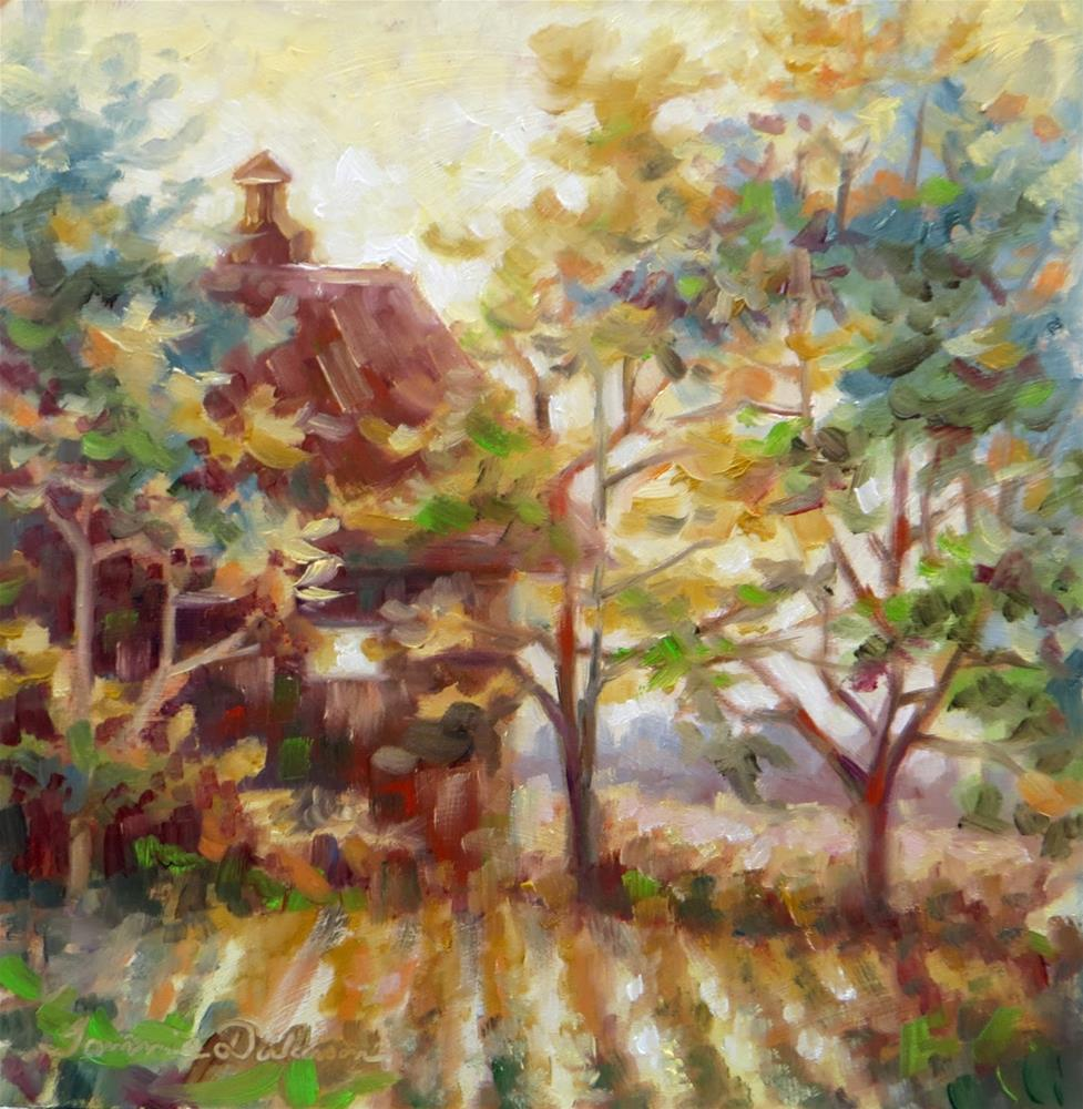 """""""Morning at the Milk Barn"""" original fine art by Tammie Dickerson"""