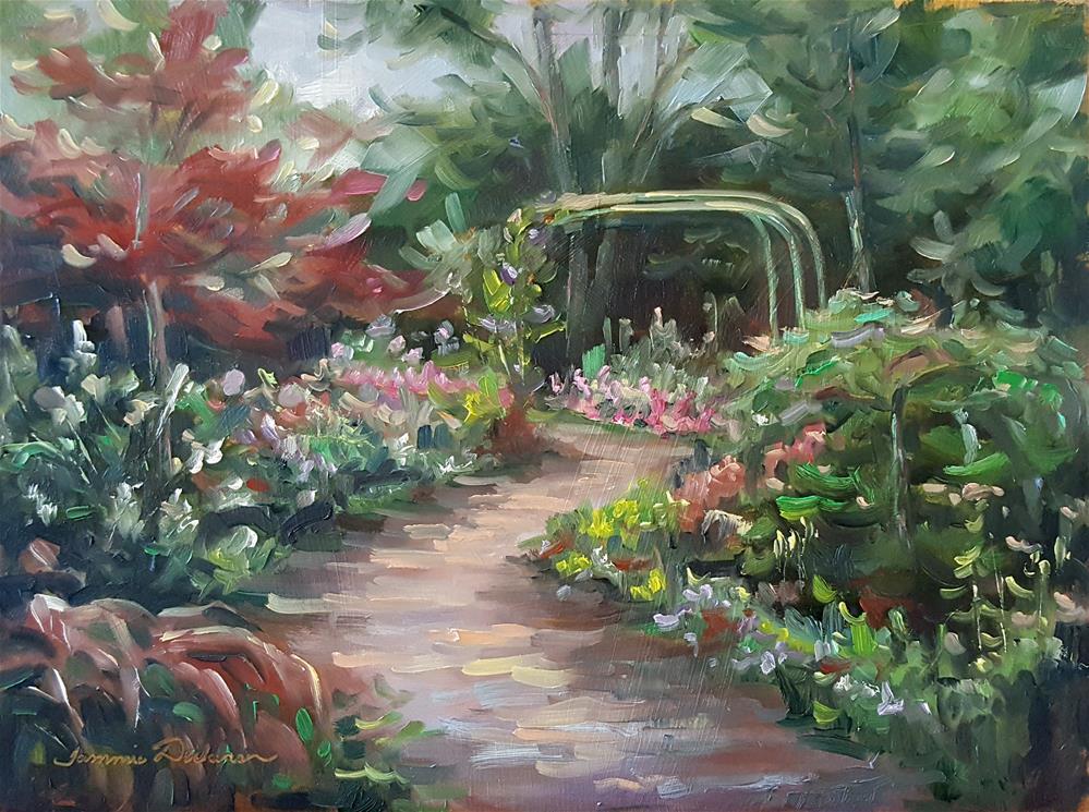 """Into the Arbor Garden"" original fine art by Tammie Dickerson"