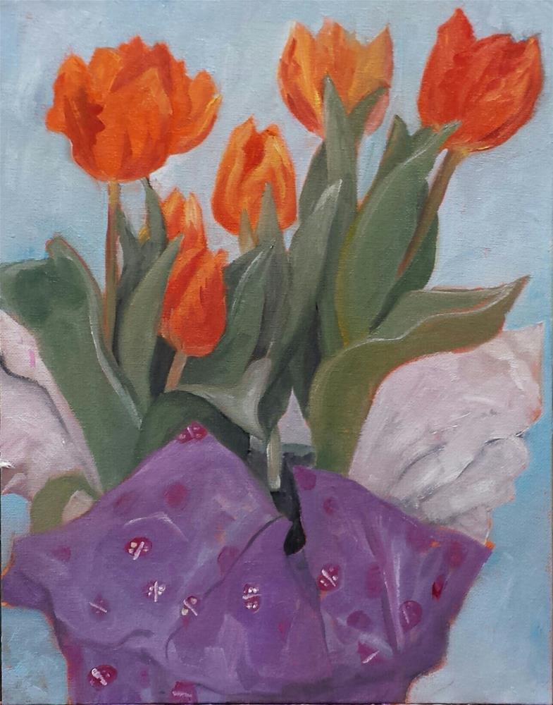 """Happy Easter-Happy Spring"" original fine art by Judith Fletcher"