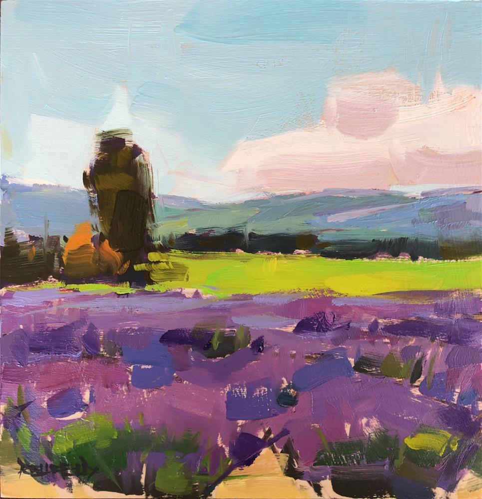 """Lavender Farm 2"" original fine art by Cathleen Rehfeld"