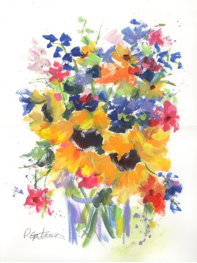 """""""Summer Suns"""" original fine art by Pamela Gatens"""