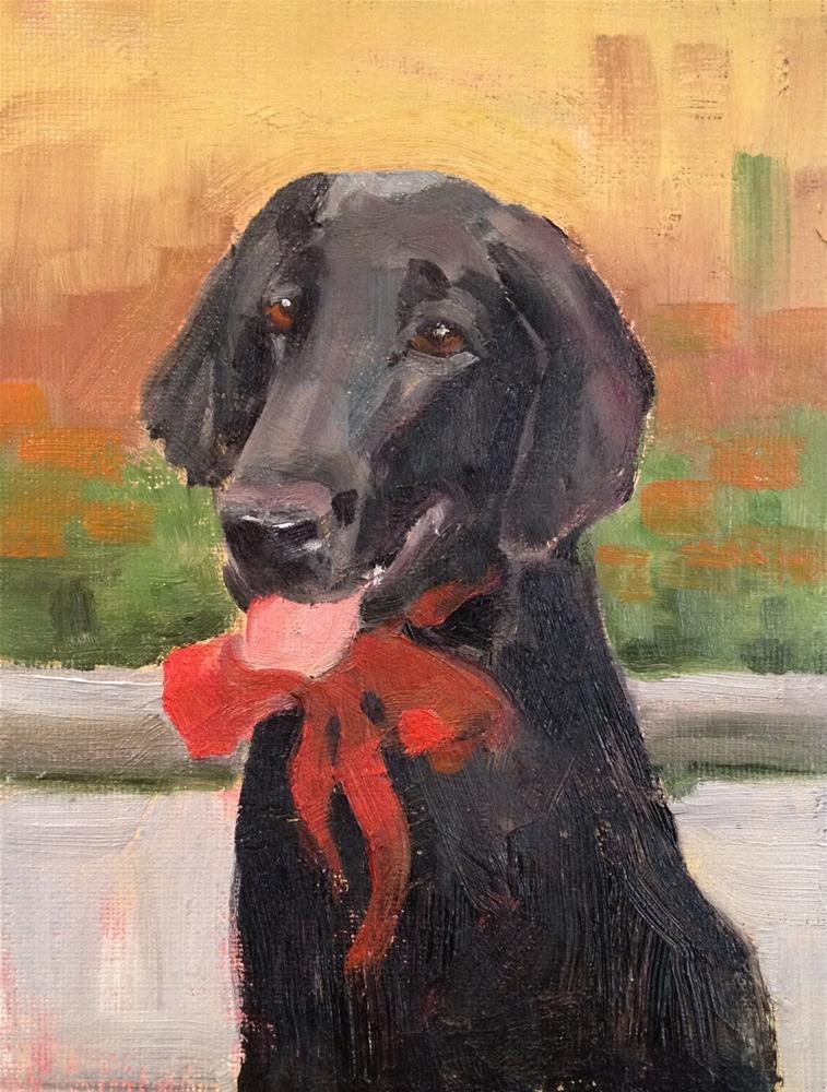 """""""Dog Commission"""" original fine art by Deborah Newman"""