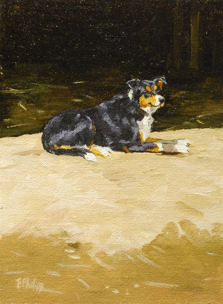 """Watchdog, the sentry"" original fine art by Beverley Phillips"