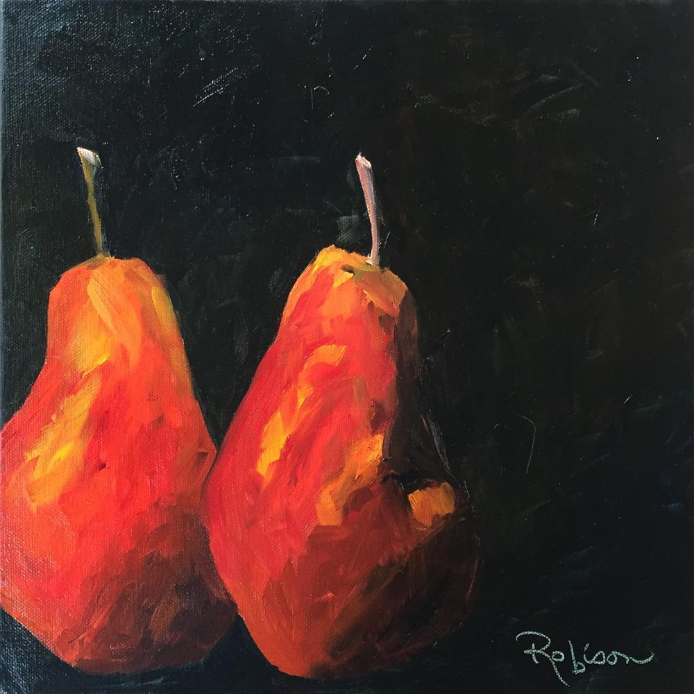 """Pair o' pears"" original fine art by Renee Robison"