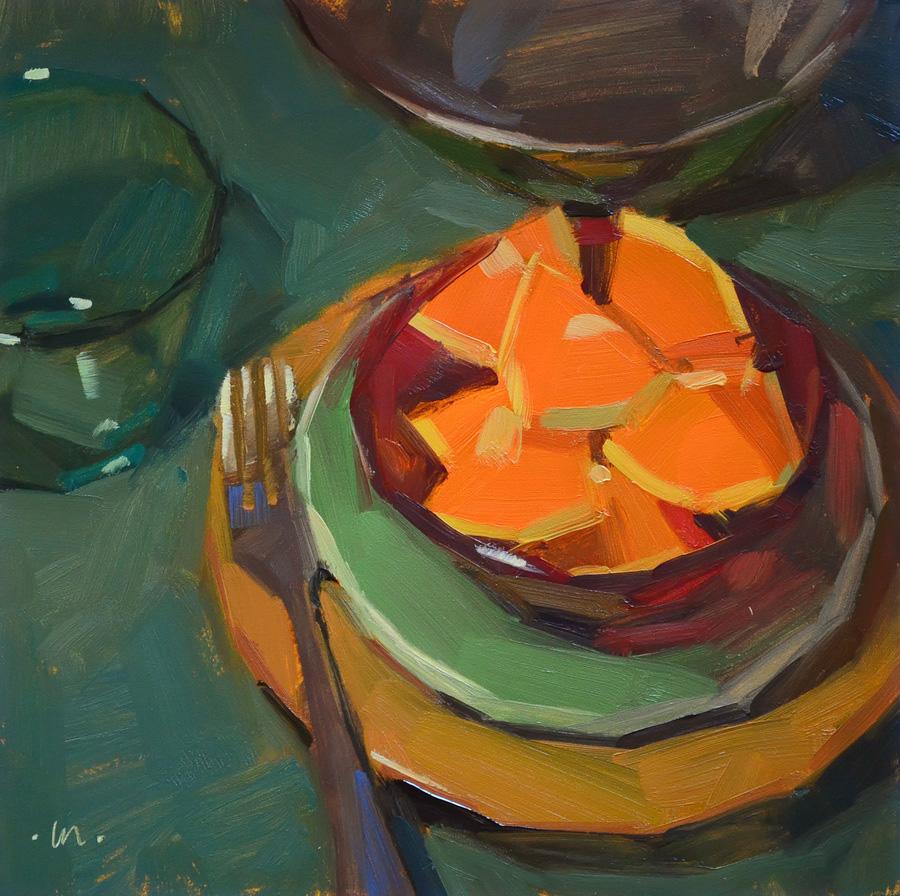 """Red Bowl"" original fine art by Carol Marine"