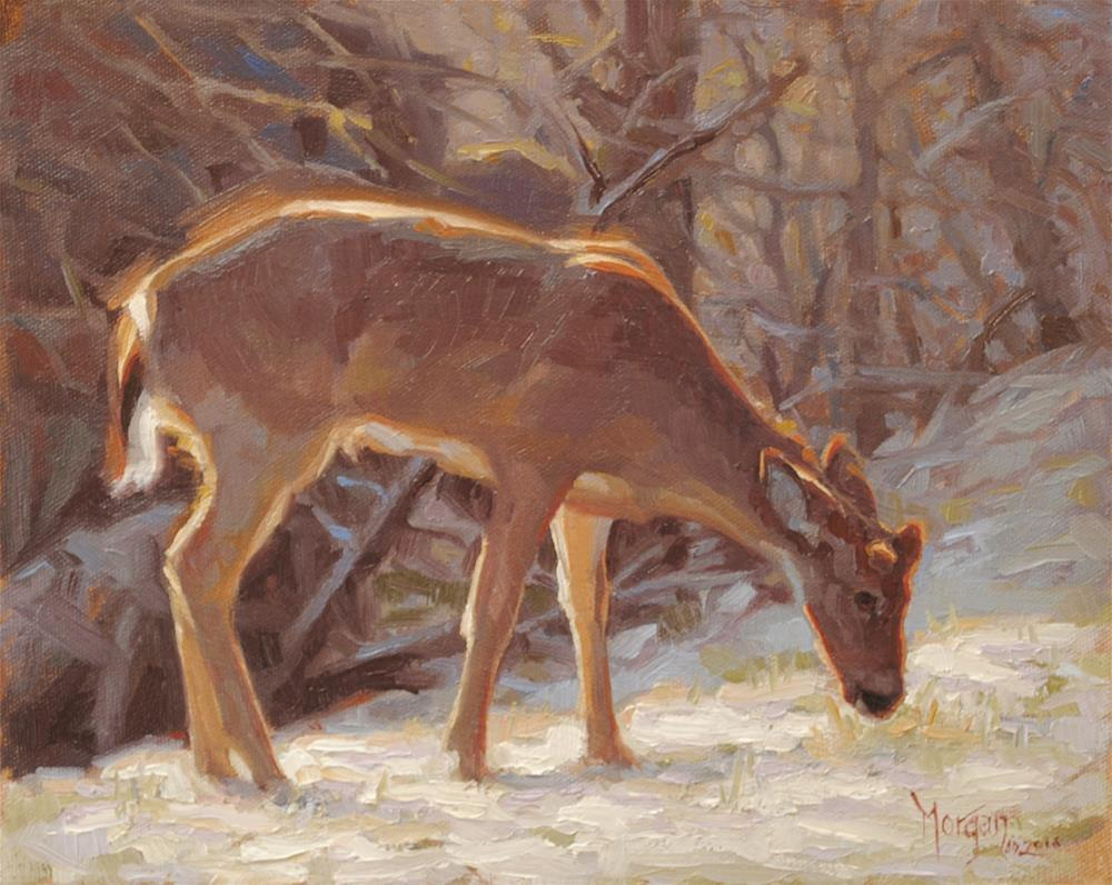 """Winter Rations"" original fine art by Cecile W. Morgan"