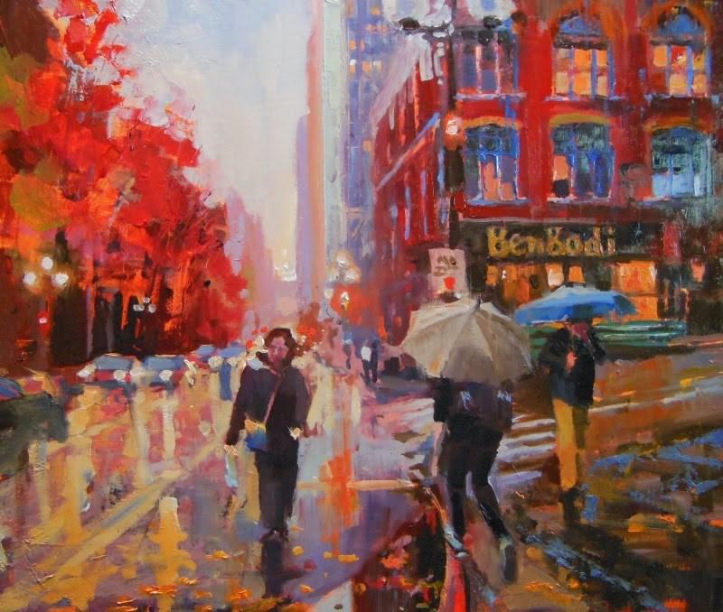 """The Bengoti  Seattle cityscape by Robin Weiss"" original fine art by Robin Weiss"