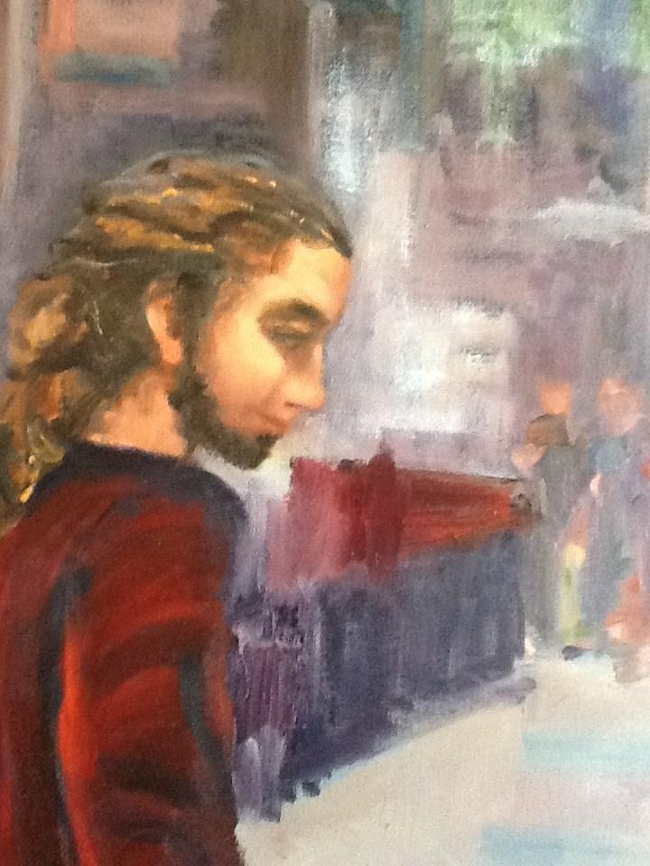 """""""At Work"""" original fine art by Peggy Schumm"""