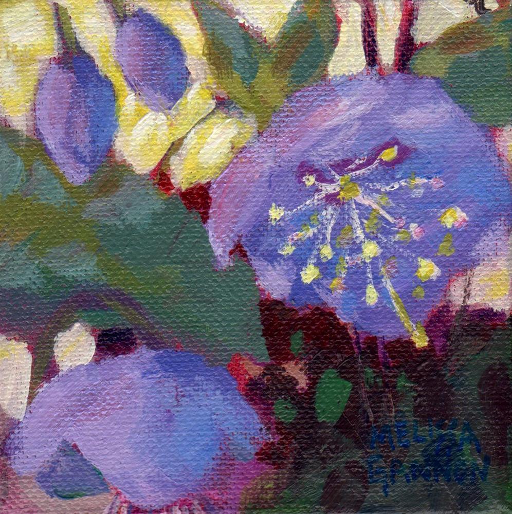 """Hellebore in Purple"" original fine art by Melissa Gannon"
