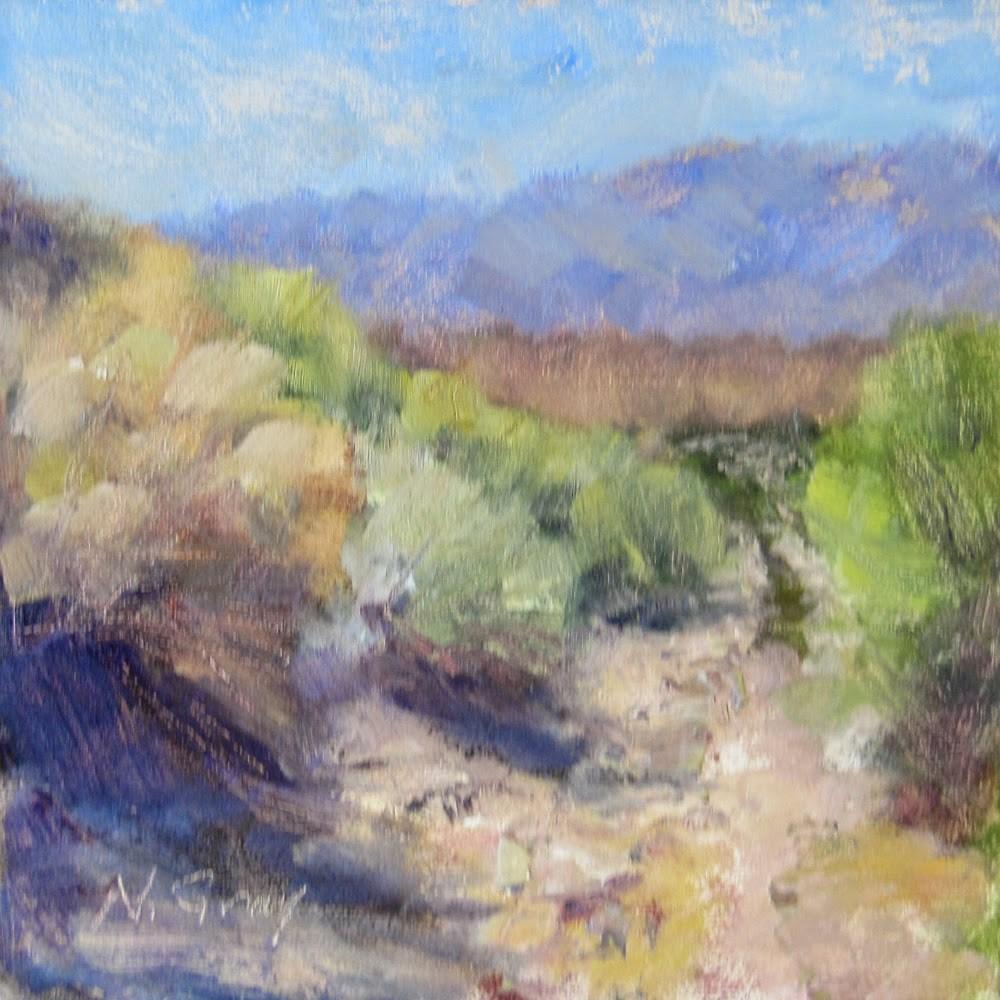 """Rabbitbrush Road"" original fine art by Naomi Gray"